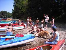 Canoe-kayak in the Dordogne-Lot from holiday park cottages of Domaine de Gavaudun