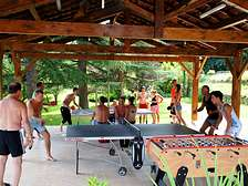 Table-tennis boules tournament for cottages resort and holiday park in Dordogne Lot Gavaudun